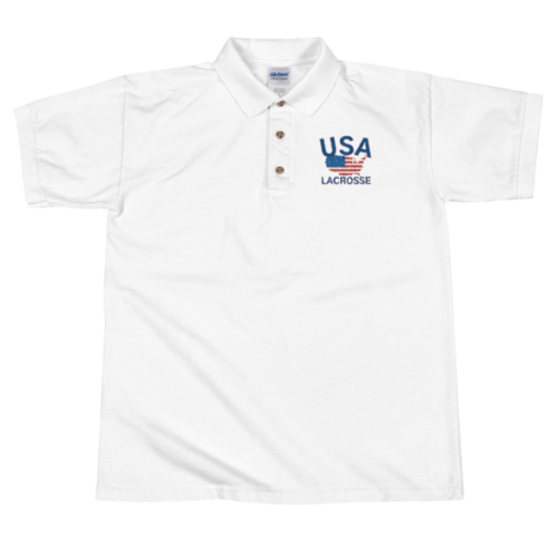 677fc137 USA Lacrosse w/ Country Flag Embroidered Polo Shirt | Lacrosse News,  Videos, Podcast & More