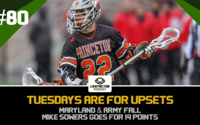 Maryland Loses To Nova, Army Gets Smoked By Marist & Mike Sowers Goes Off (LaxFactor Podcast #80)